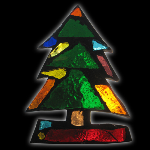 Glass Mountain Dalle De Verre Stained Art Glass Christmas Tree